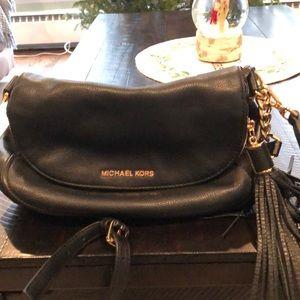 Michael Kors black tassel bag